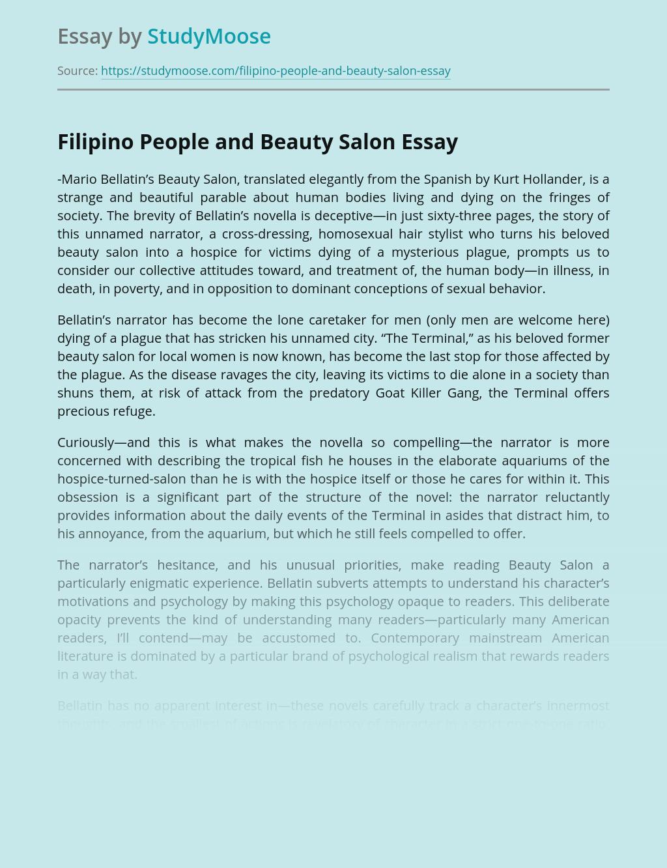 Filipino People and Beauty Salon