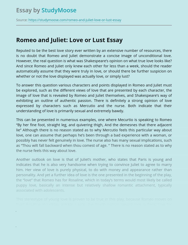 Love or this lust is Lust vs