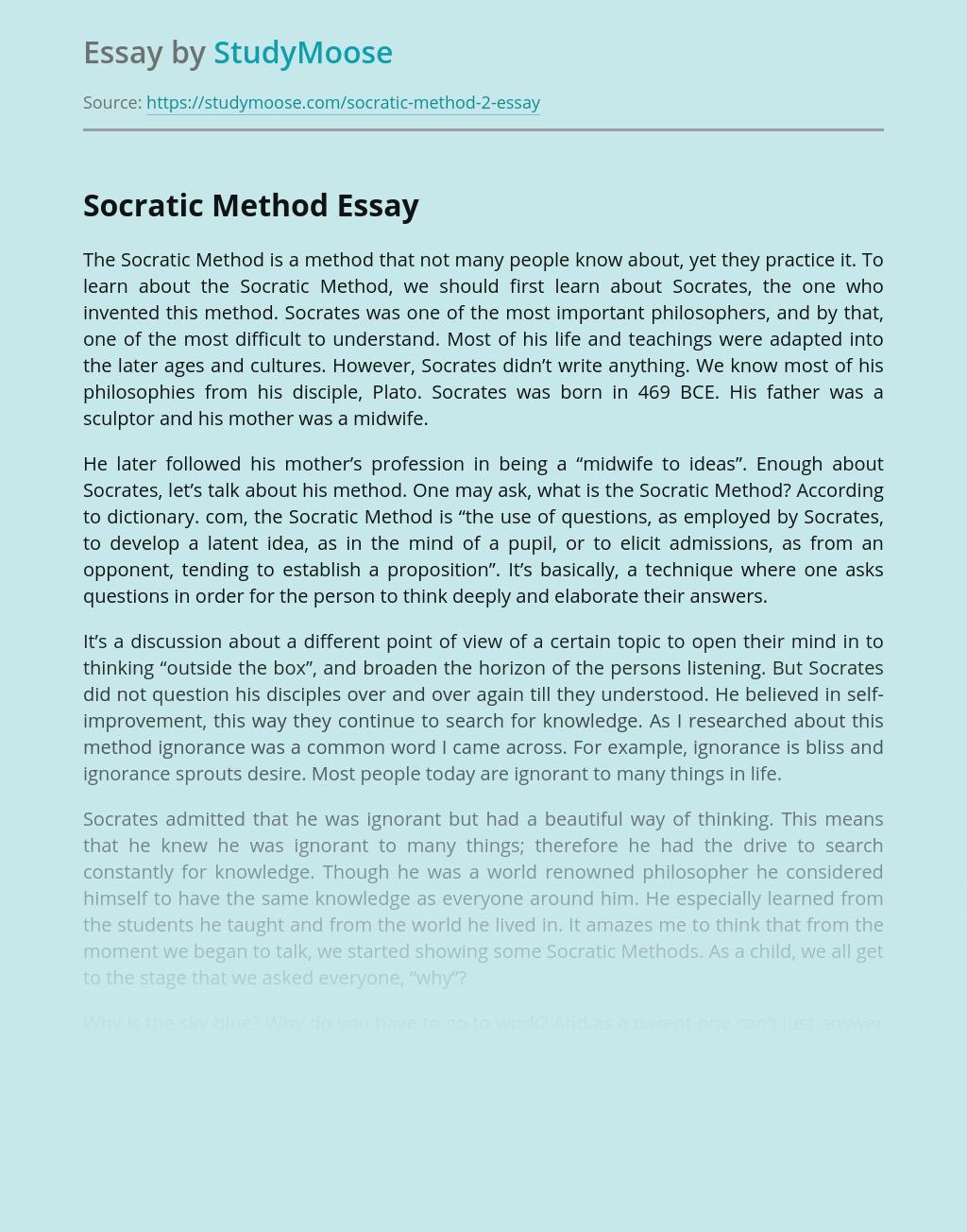 Socratic Method Among Other Teaching Methods