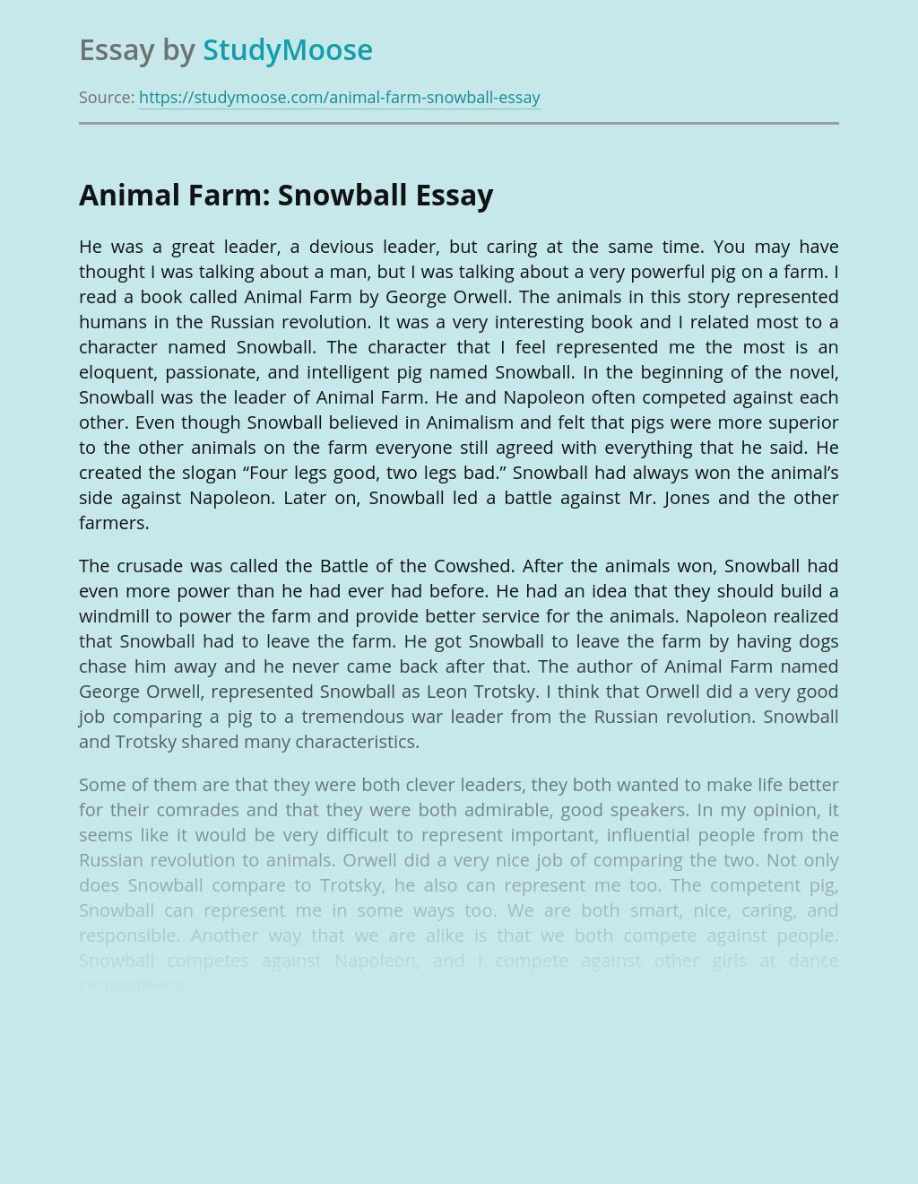 Animal Farm: Snowball