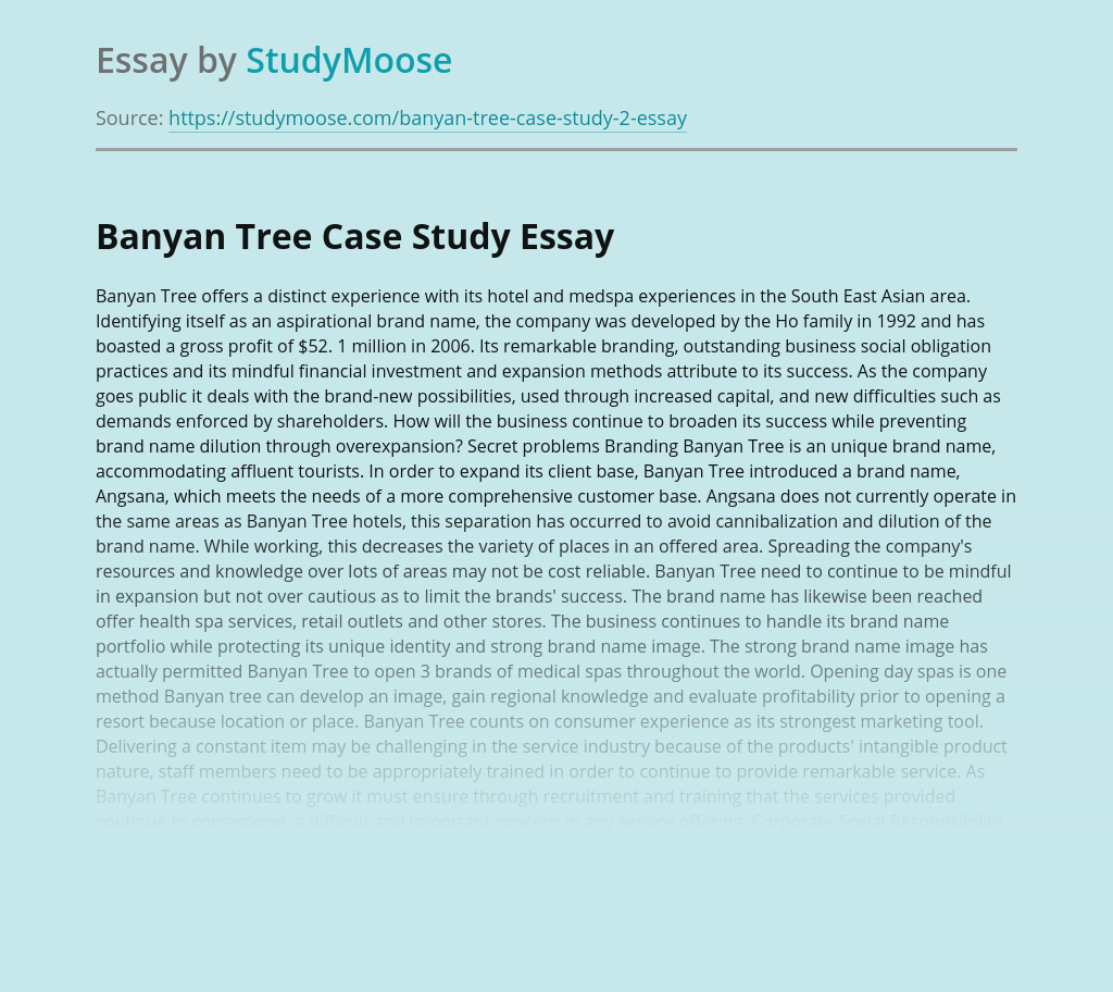 Banyan Tree in the South East Asian Region