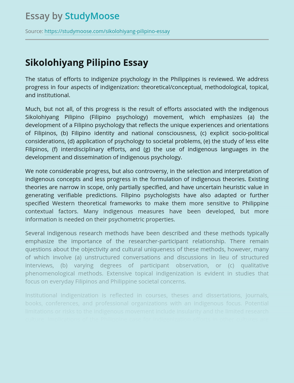 Sikolohiyang Pilipino