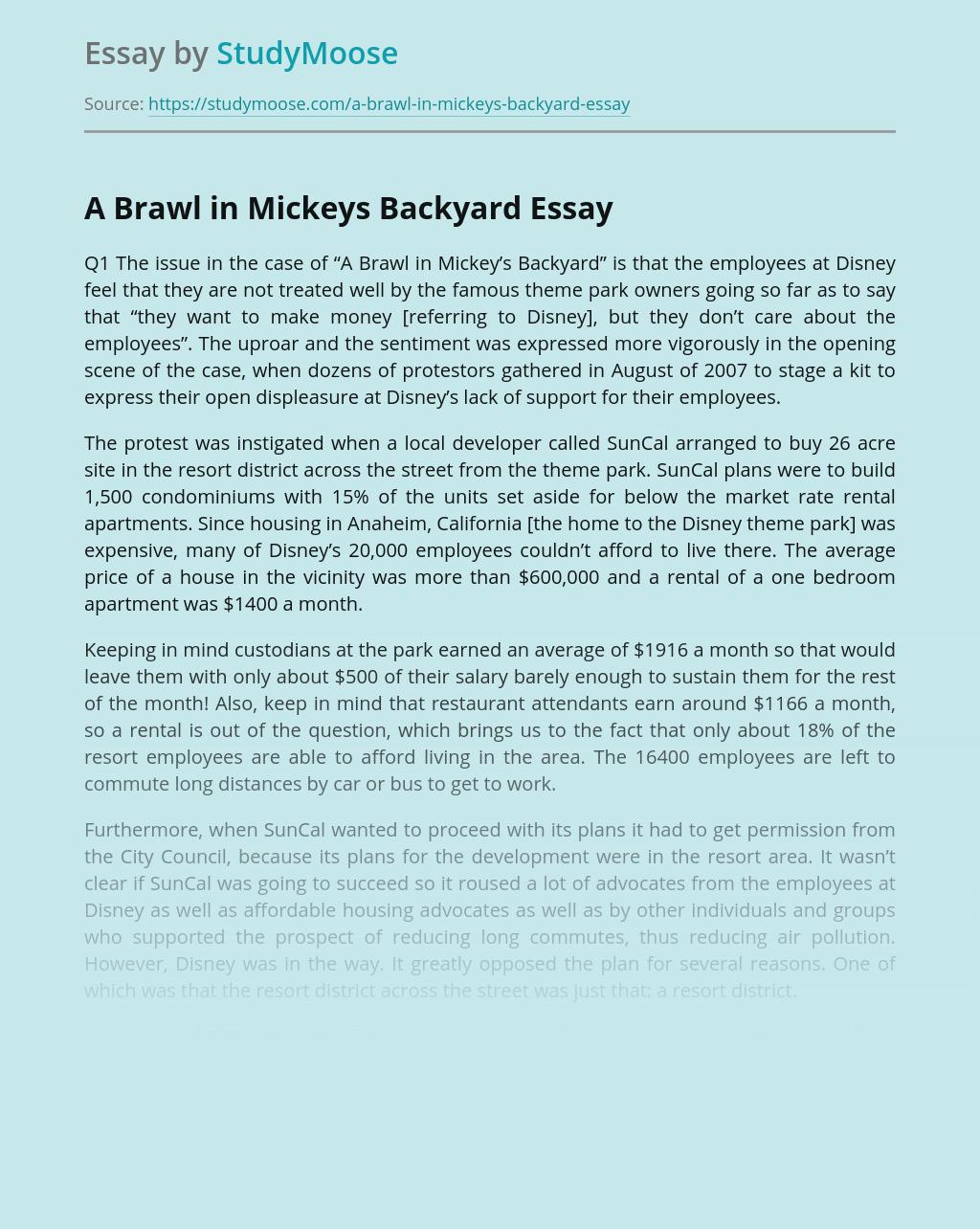 A Brawl in Mickeys Backyard