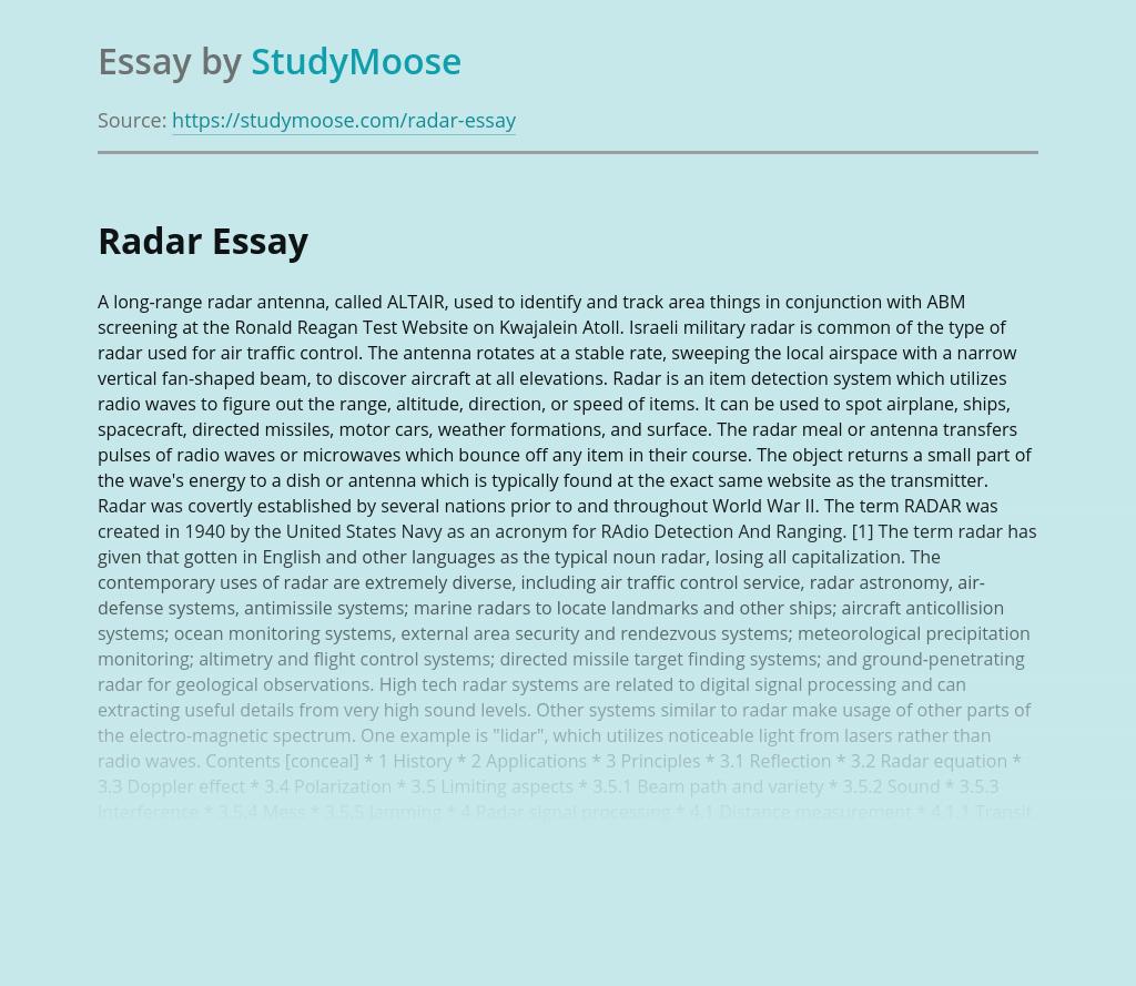 Research on Radar System