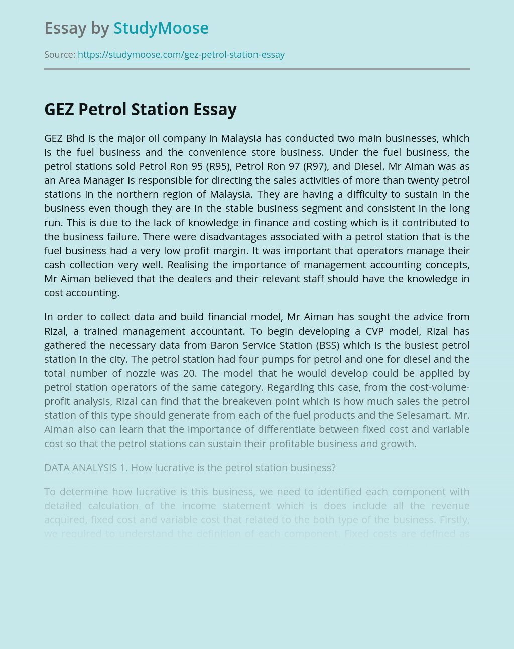 GEZ Petrol Station