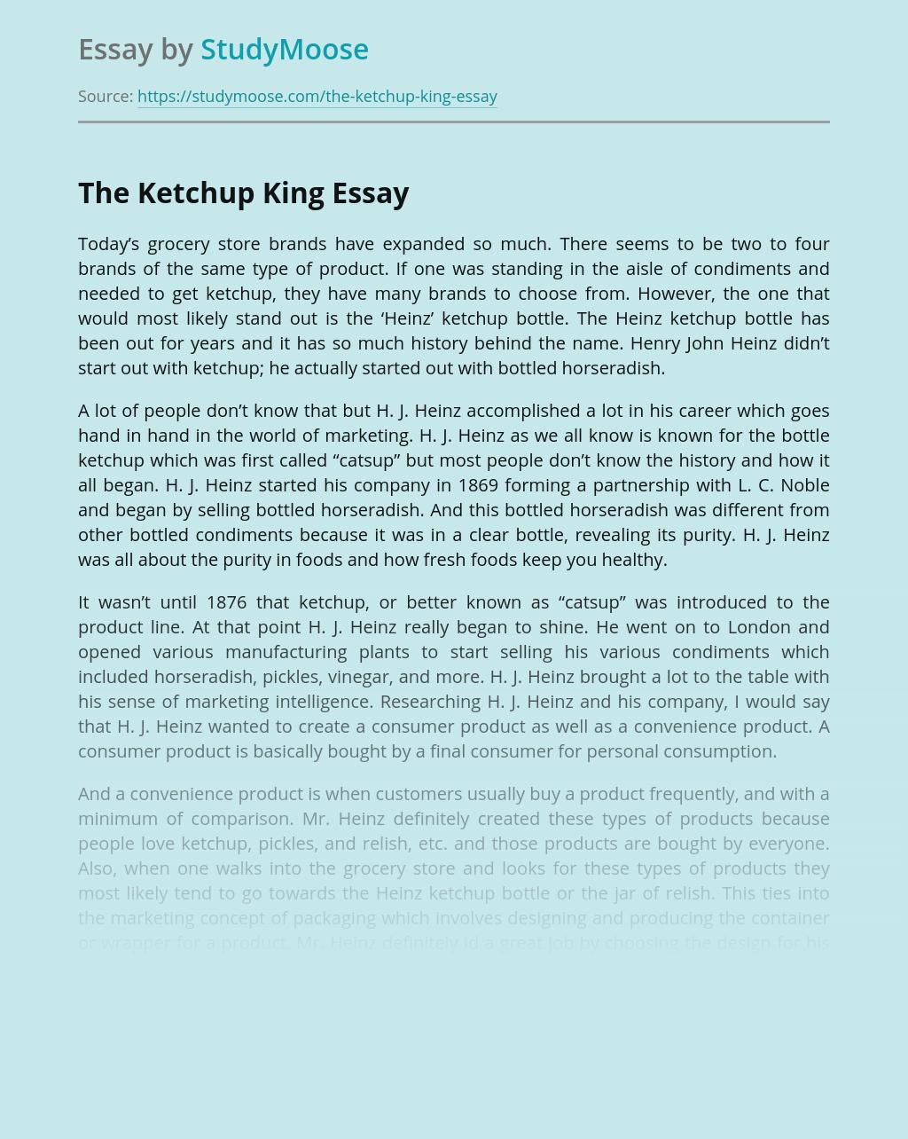 The Ketchup King