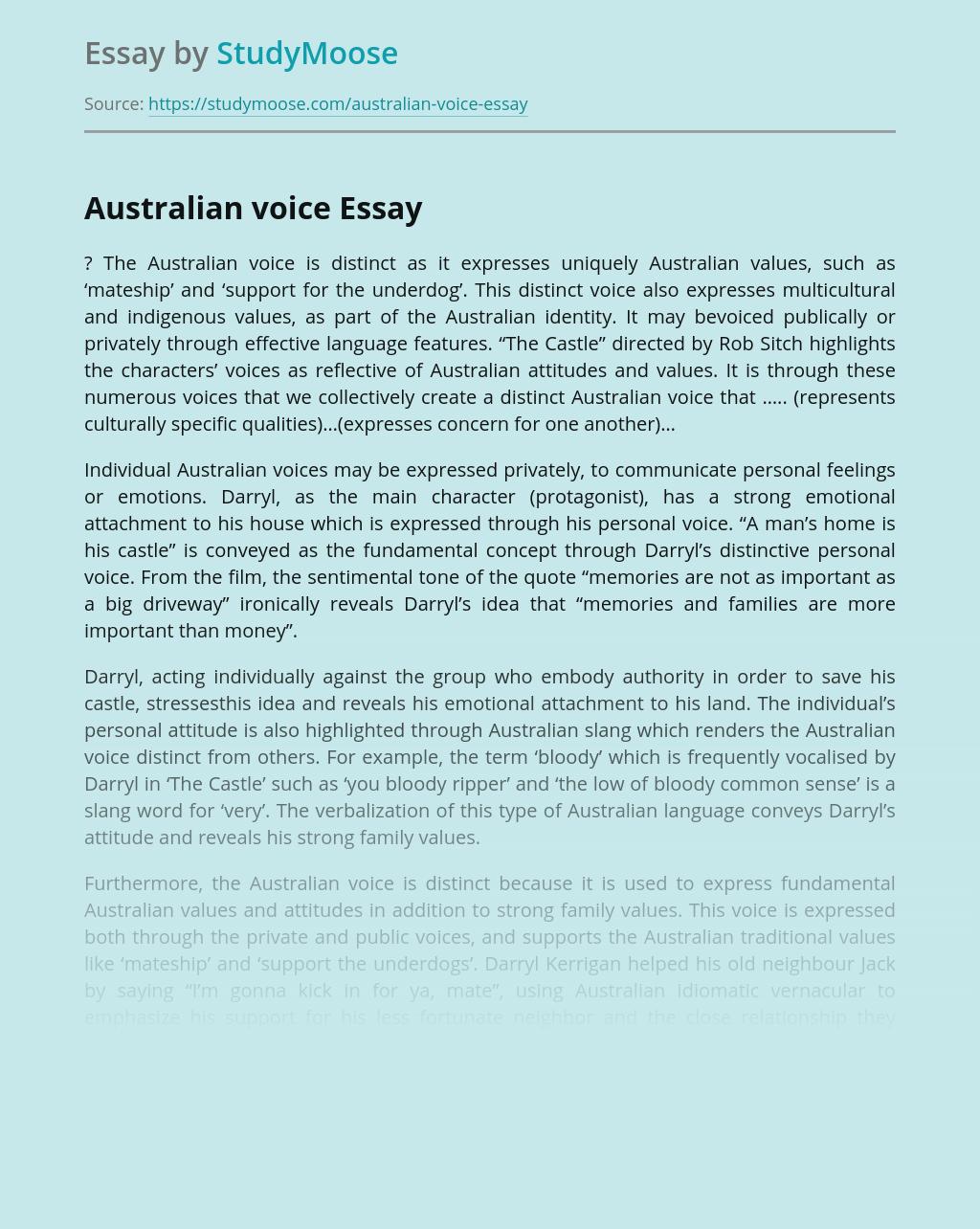 Australian voice