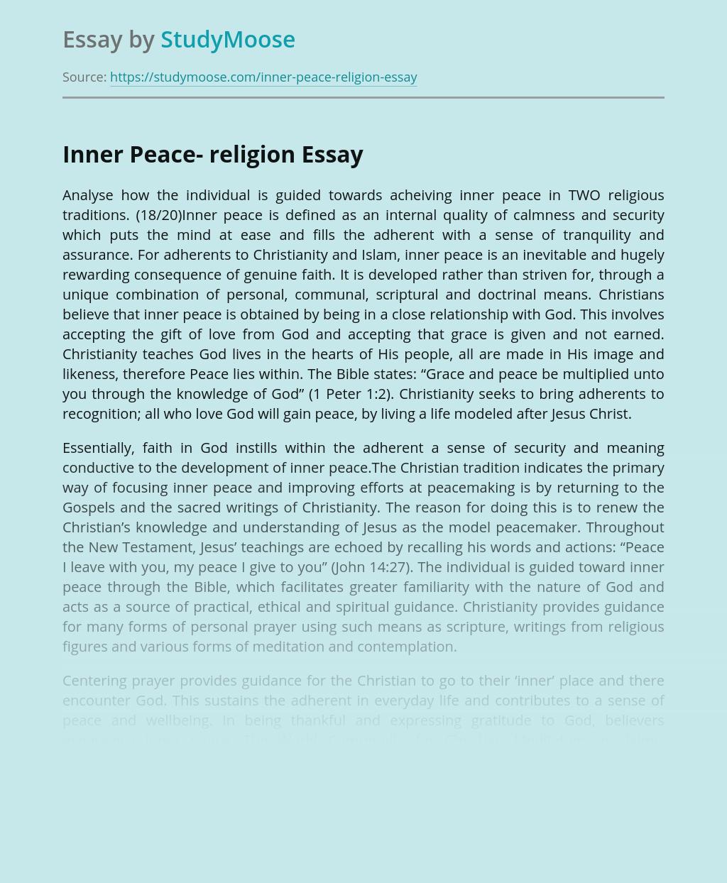Inner Peace- religion