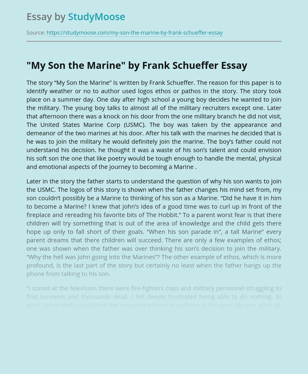 Review of My Son the Marine