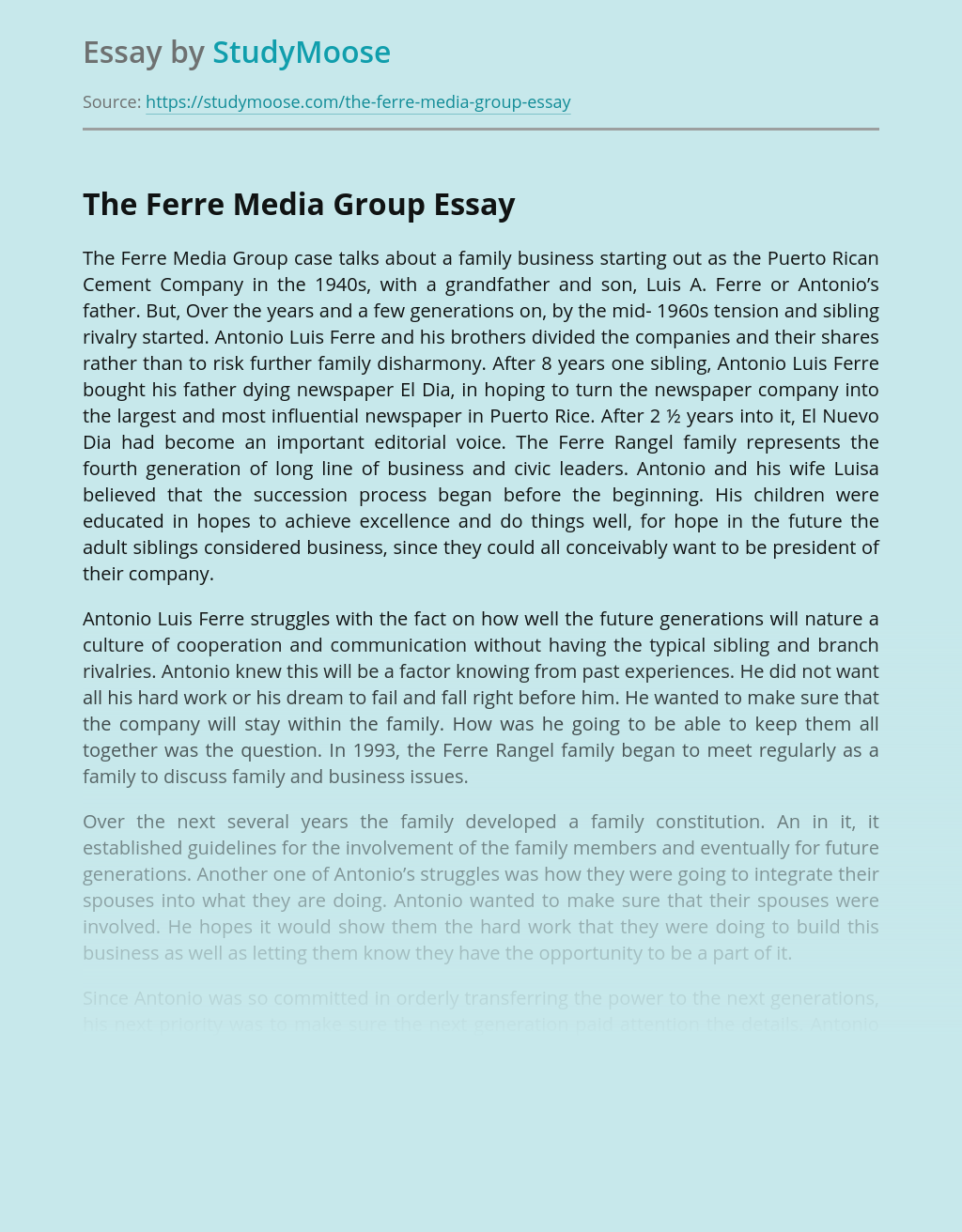 The Ferre Media Group