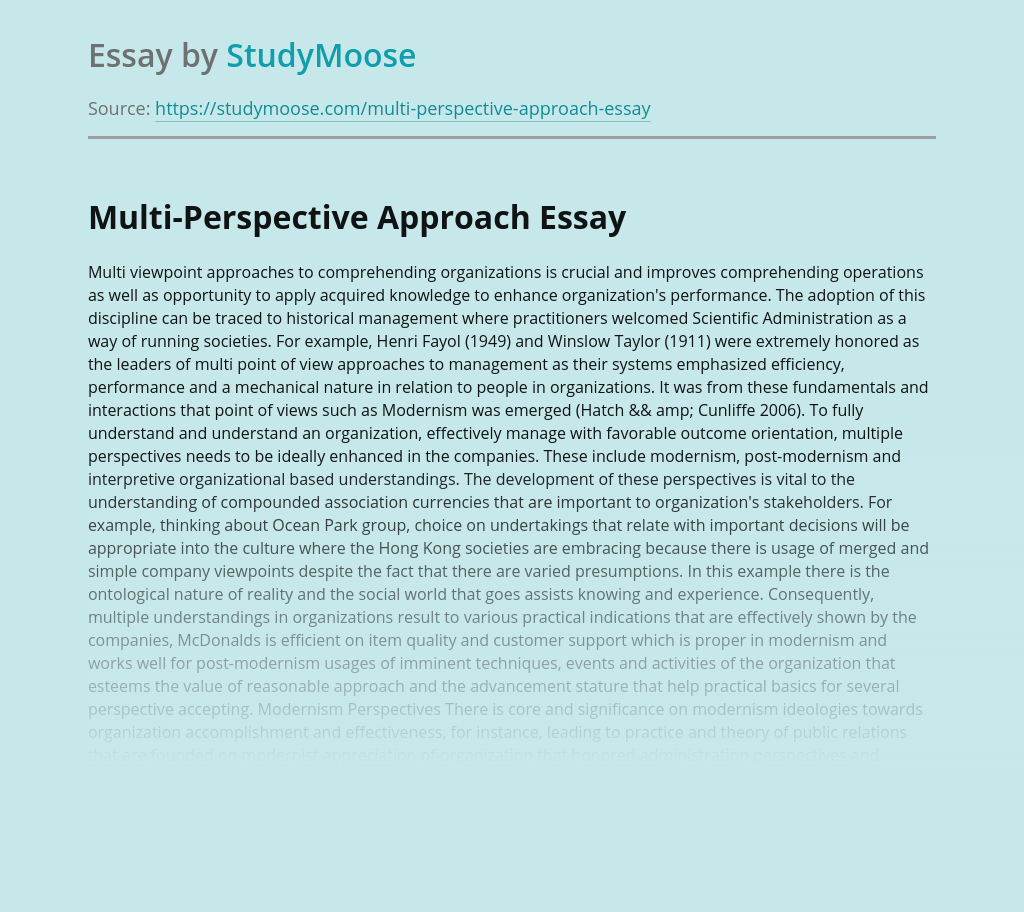 Multi-Perspective Approach