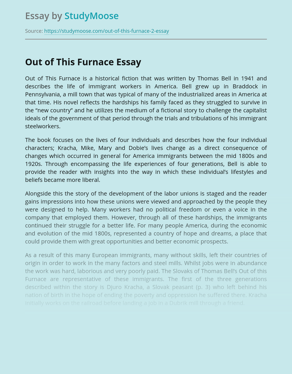Theme of Rights in Out of This Furnace