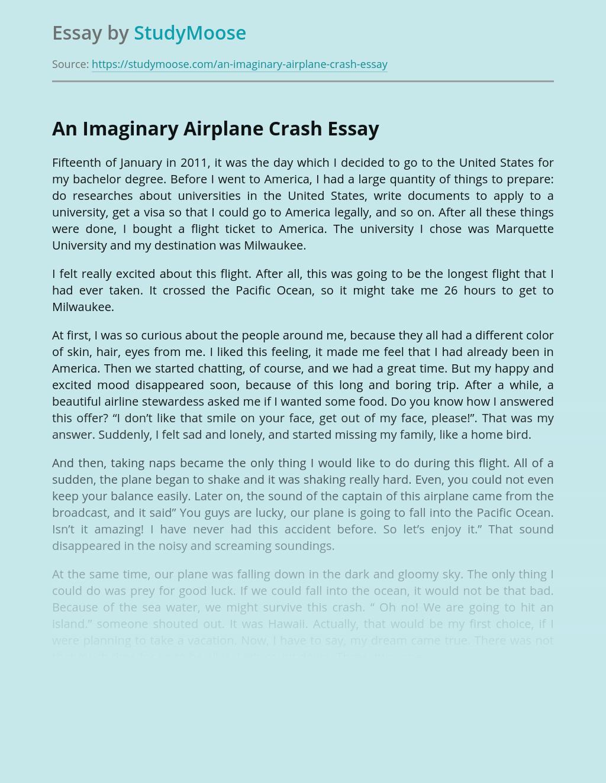 An Imaginary Airplane Crash