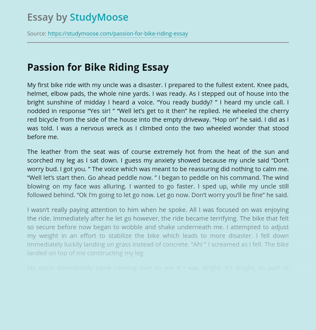 Passion for Bike Riding