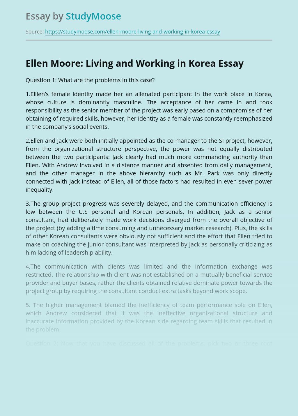 Ellen Moore: Living and Working in Korea
