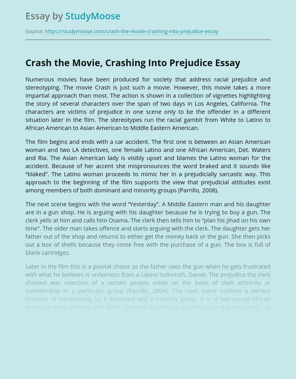 Crash the Movie, Crashing Into Prejudice