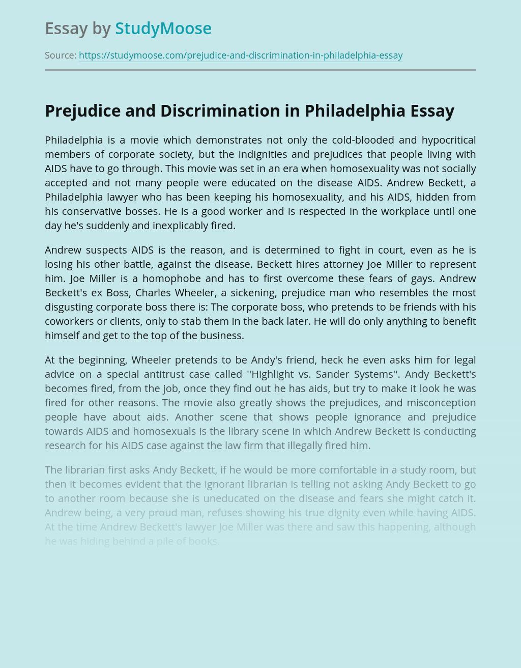 Prejudice and Discrimination in Philadelphia