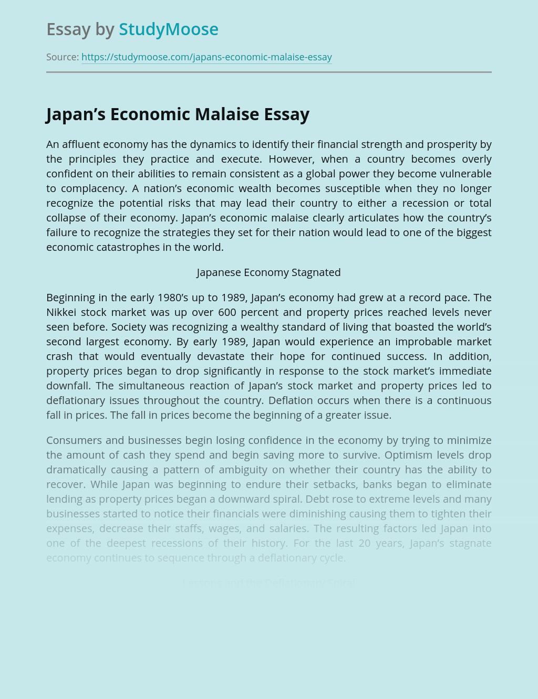 Japan's Economy Today