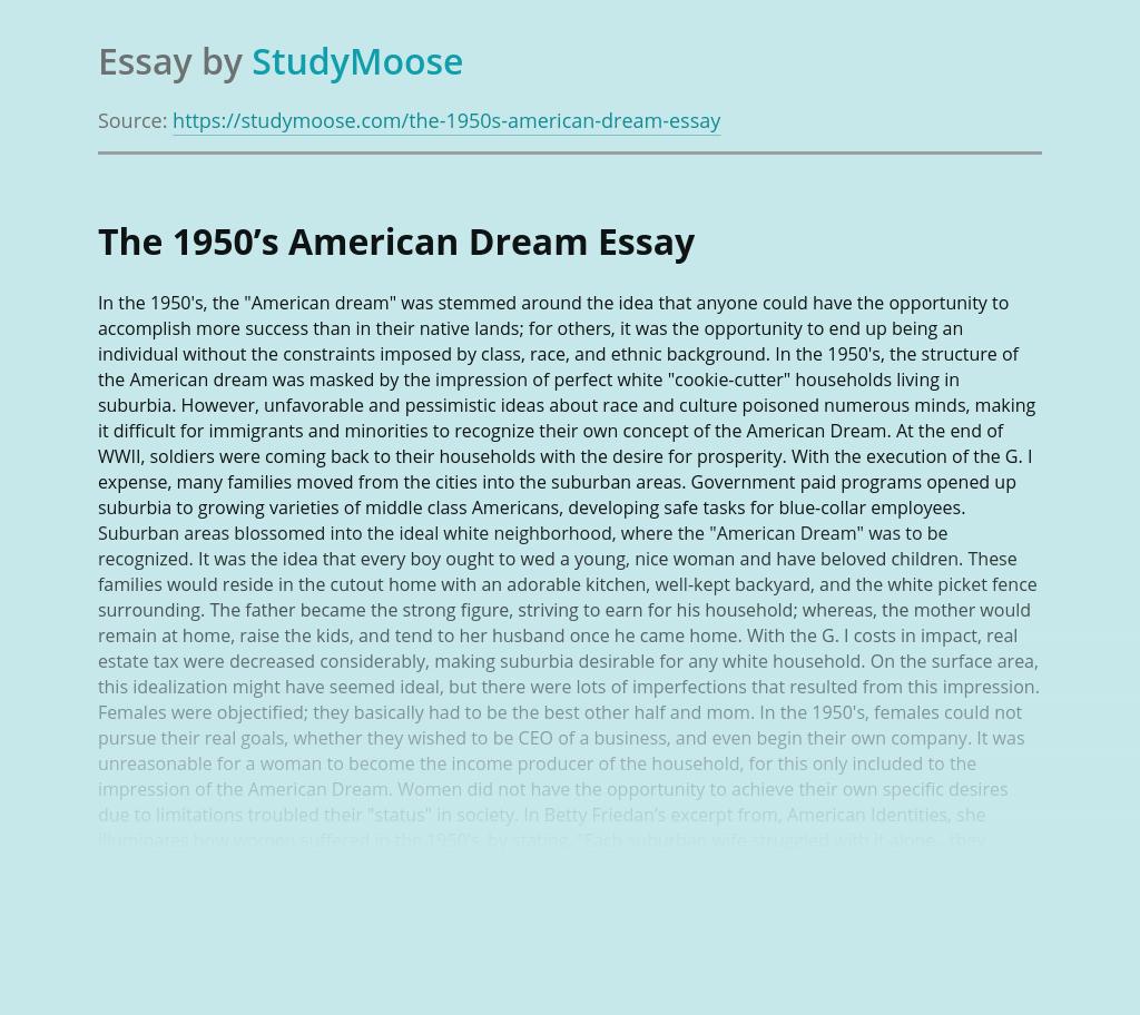 The 1950's American Dream