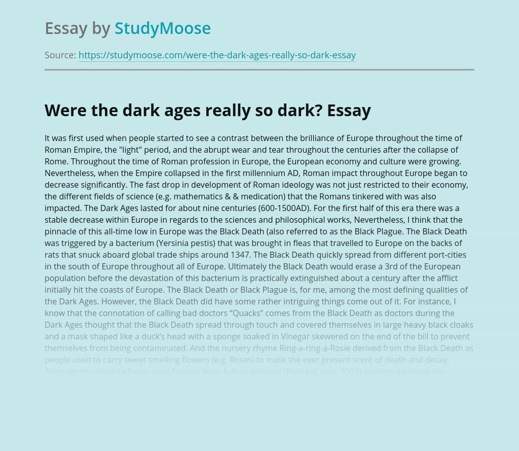 Were the dark ages really so dark?
