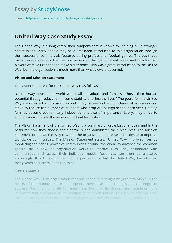 United Way Case Study