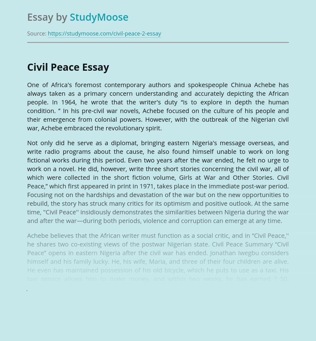 Effects of the Nigerian Civil War