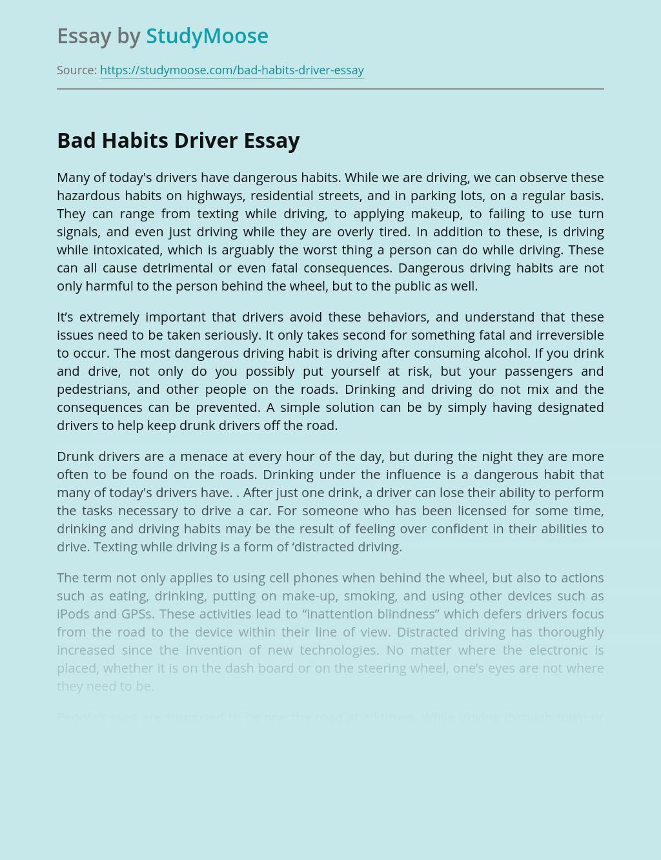 Bad Habits Driver