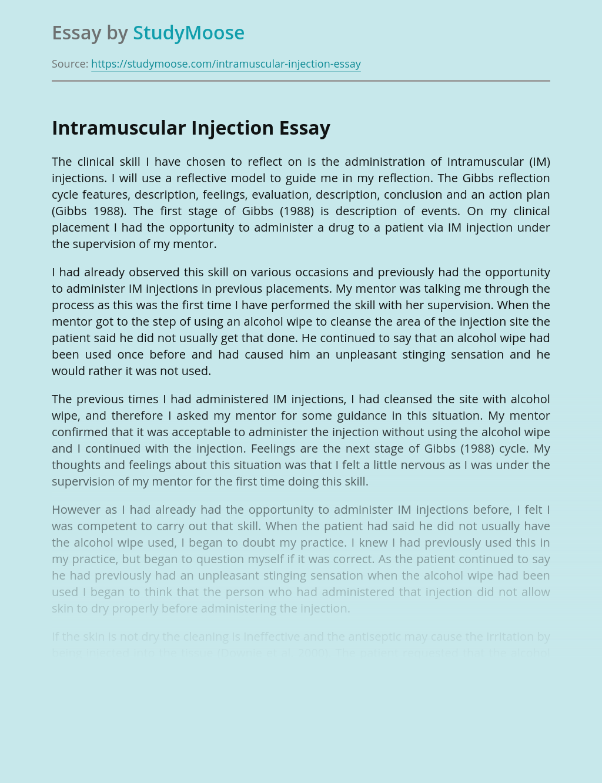 Intramuscular Injection Skills