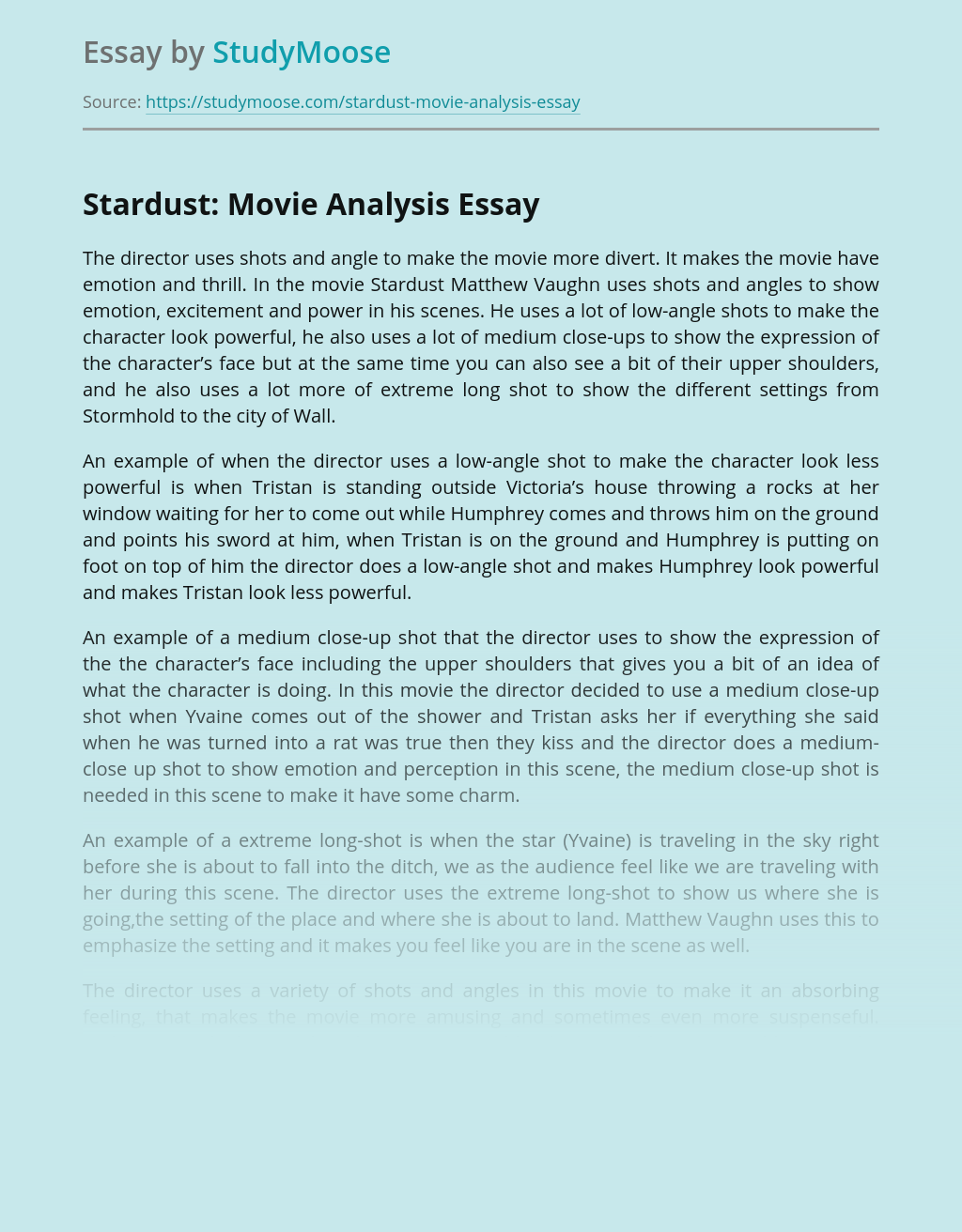 Stardust: Movie Analysis