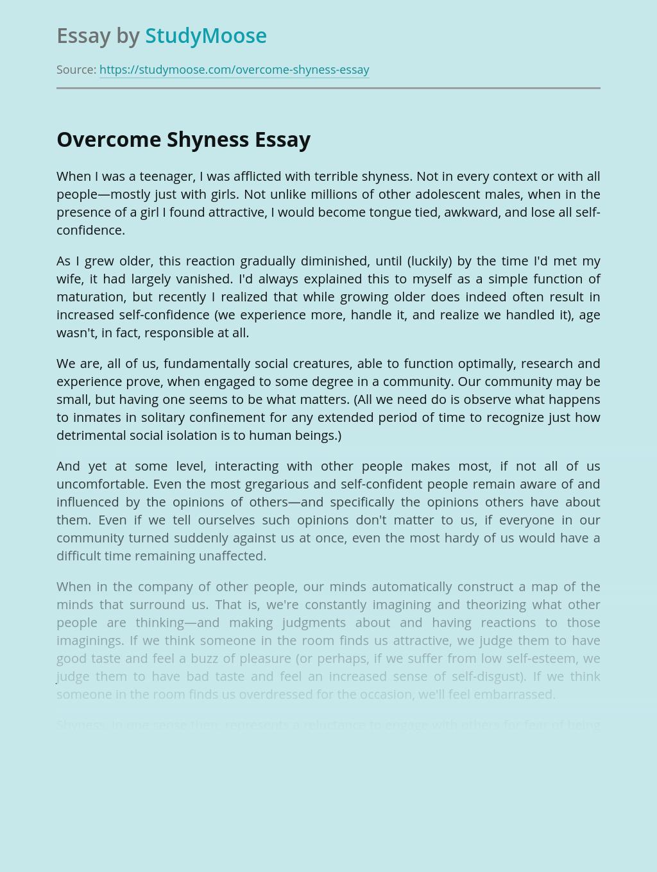 Overcome Shyness Increasing Self Confidence