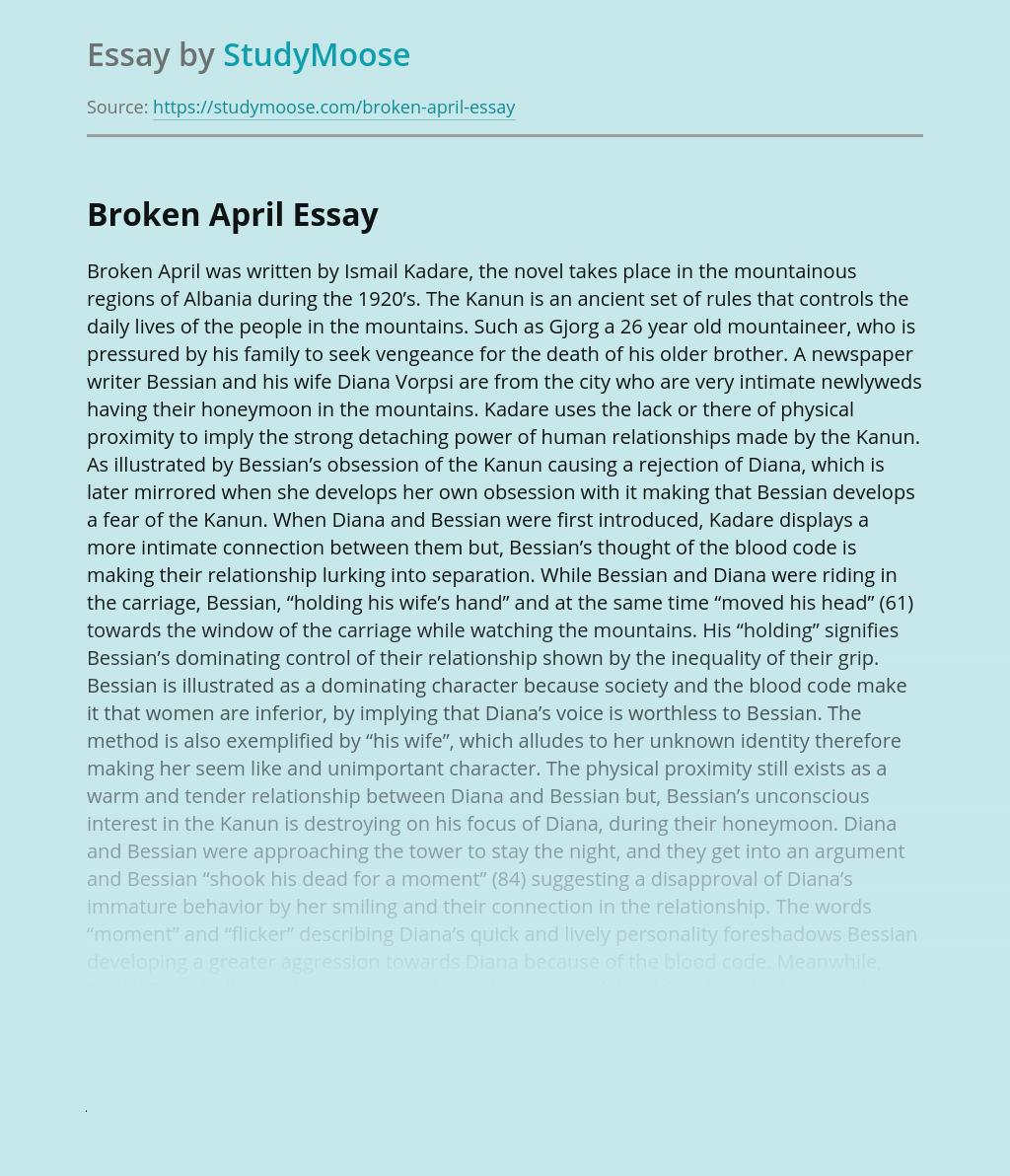 Broken April Summary