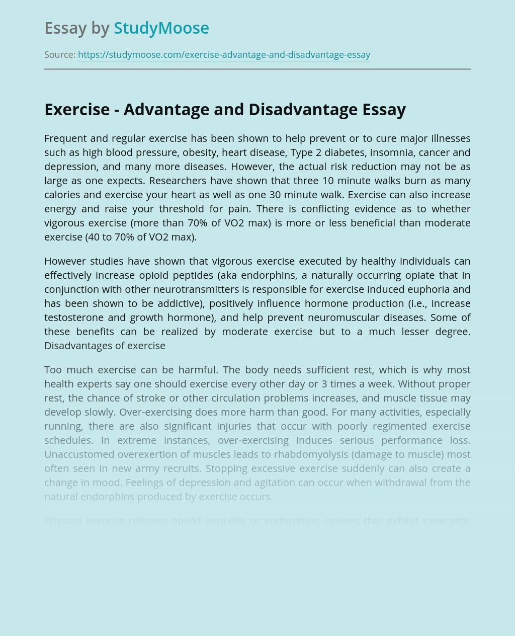 Exercise - Advantage and Disadvantage