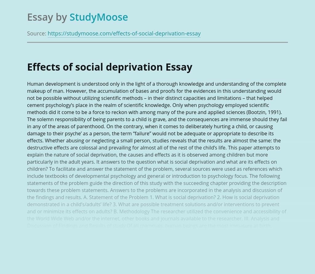 Social Deprivation