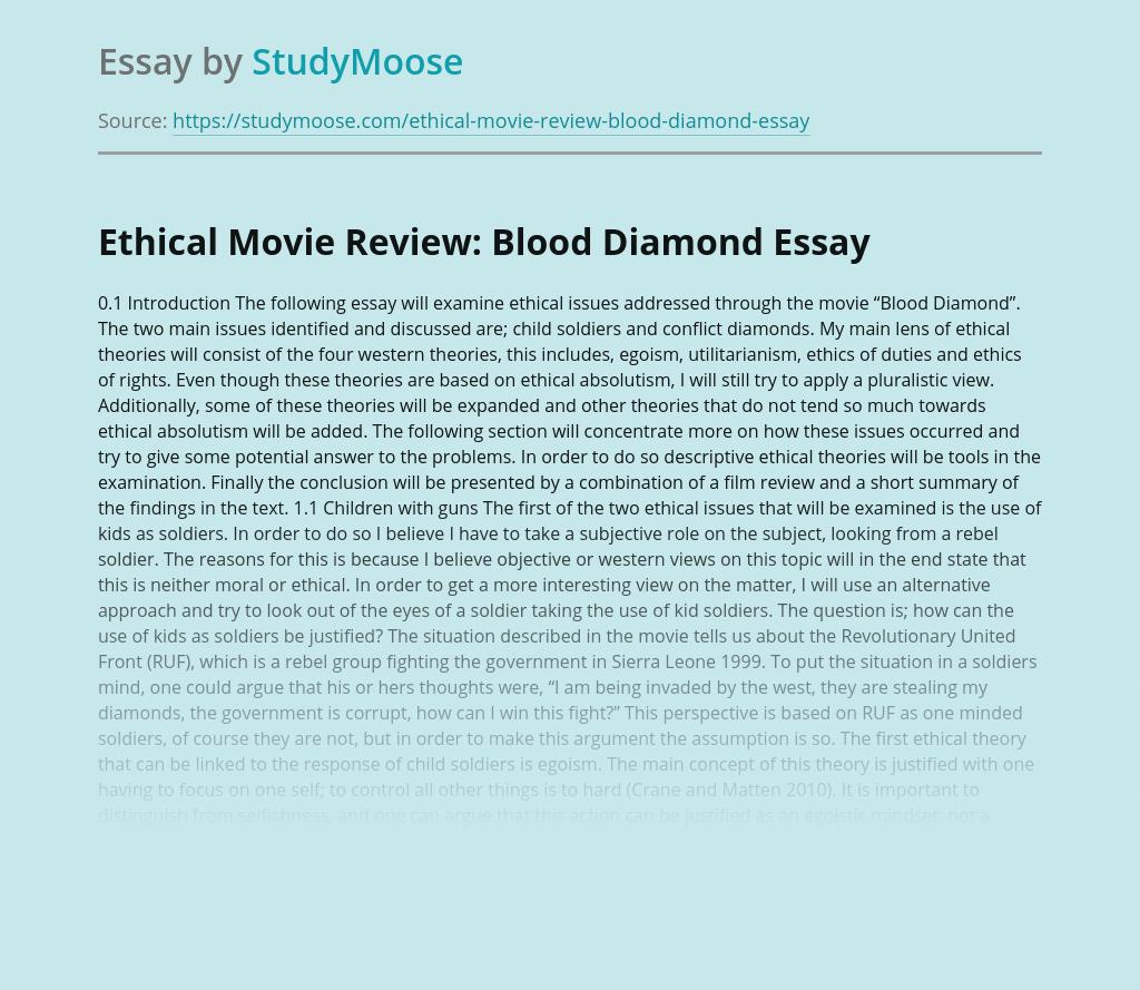 Blood Diamond Movie Summary - blogger.com