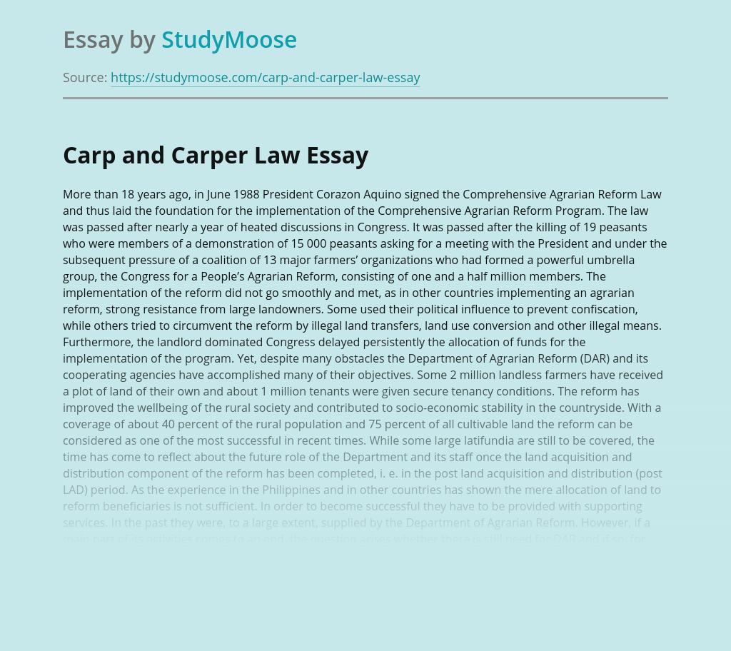 Carp and Carper Law