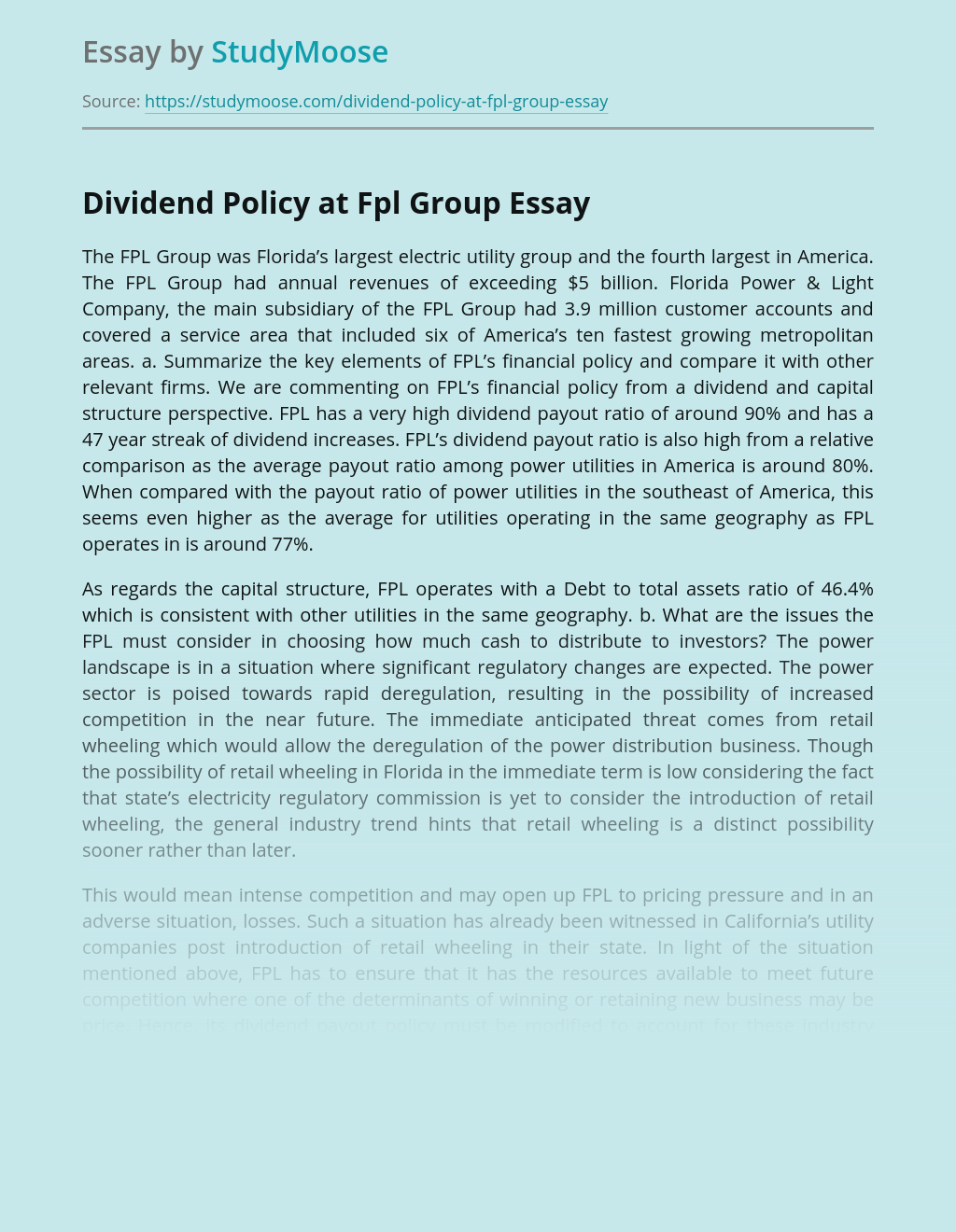 The FPL Group