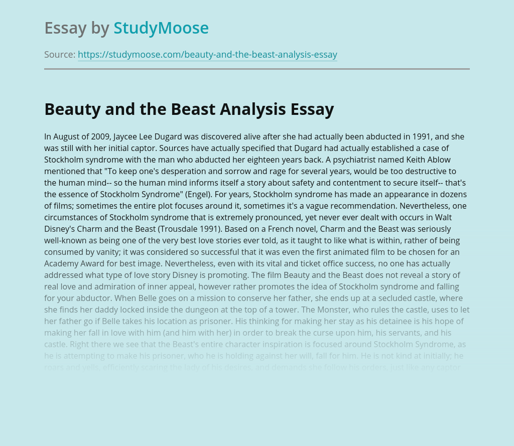 Beauty and the Beast Analysis