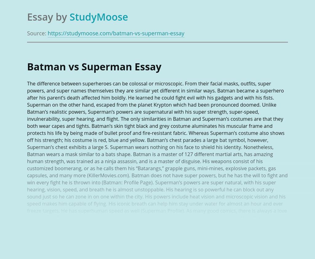 Batman vs Superman: Who Is Better