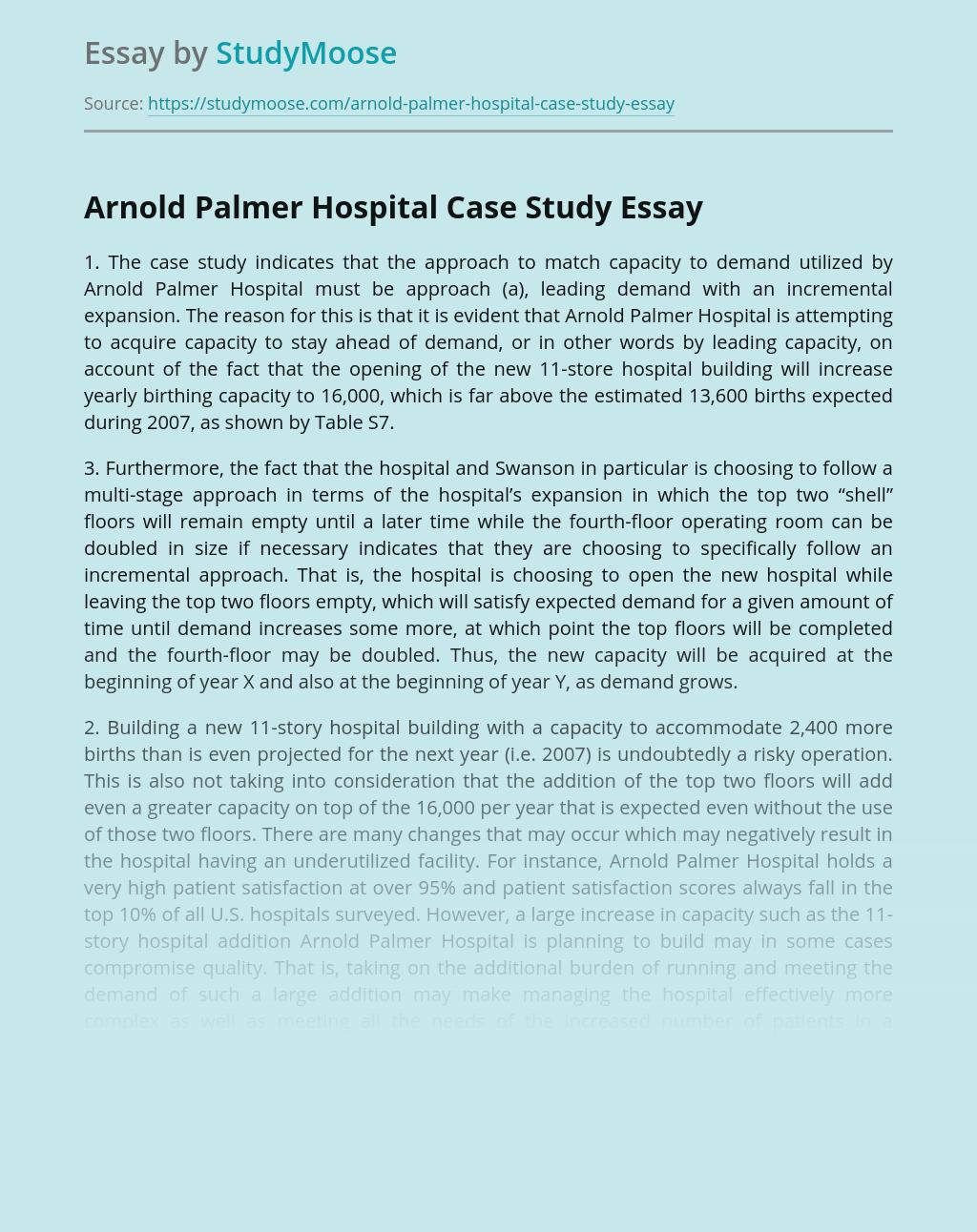 Arnold Palmer Hospital Case Study