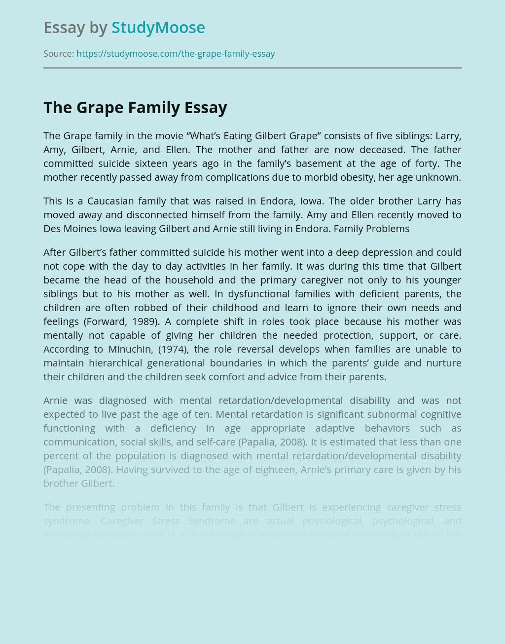 The Grape Family