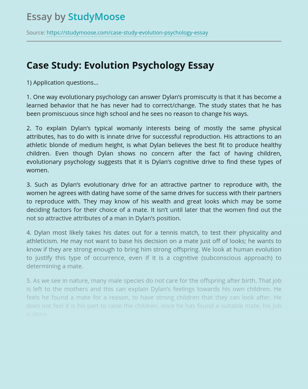 Psychology case study essays proper heading for college essay