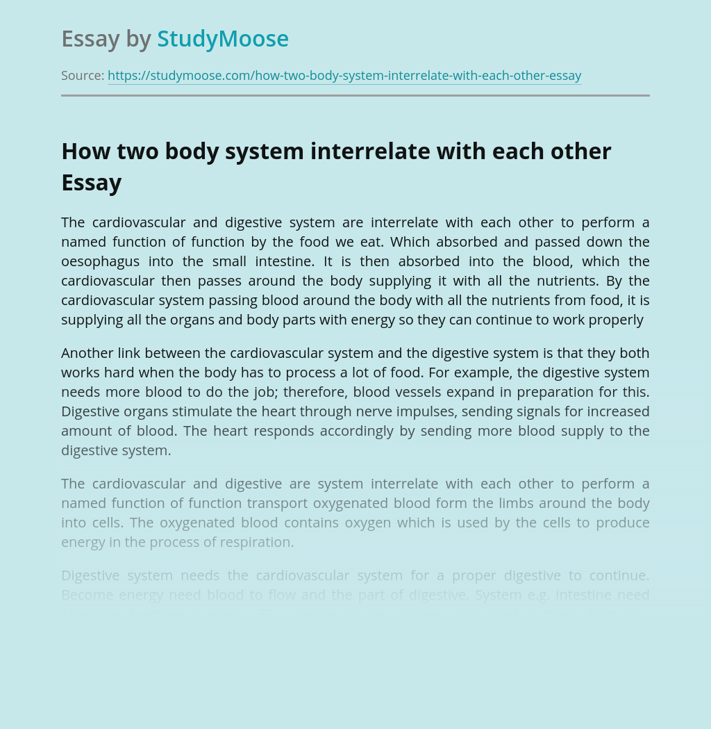 How two body system interrelate with each other