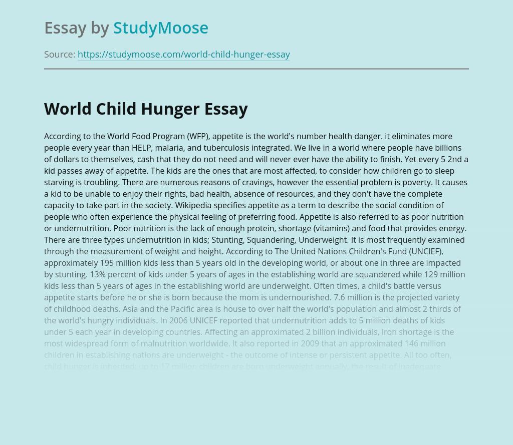 World Child Hunger