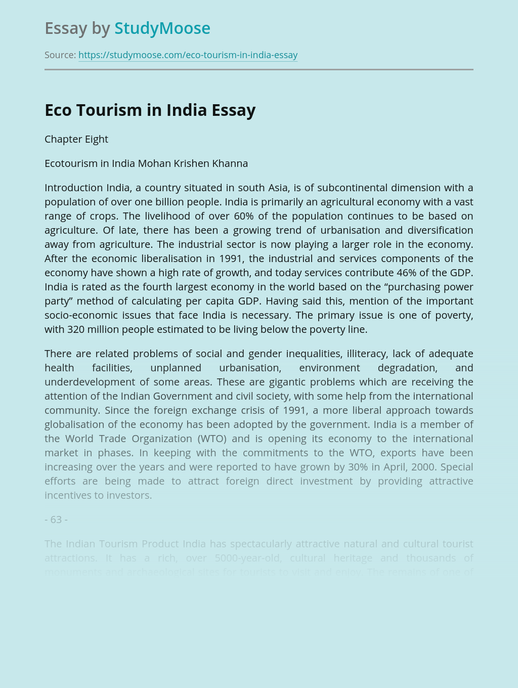 Essay on eco tourism in india top report ghostwriting websites for phd