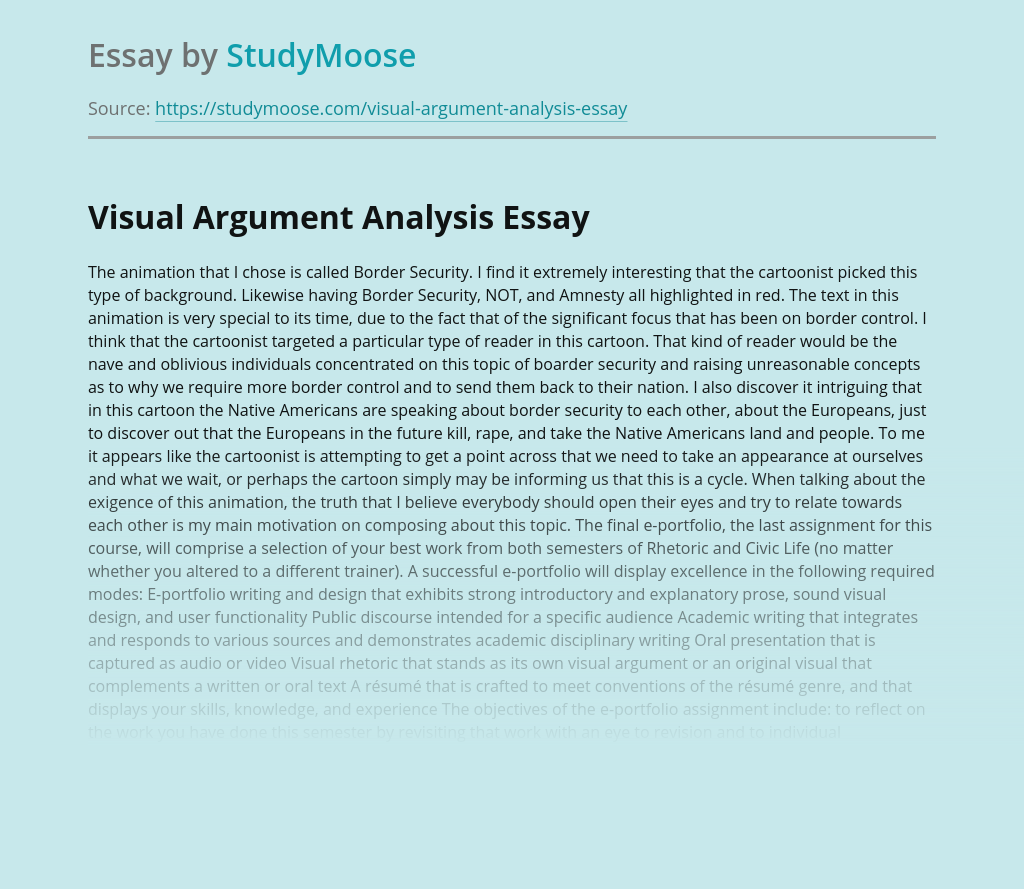 Border Security Visual Argument Analysis