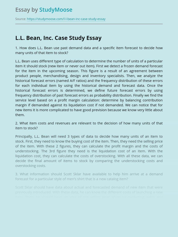 L.L. Bean, Inc. Case Study