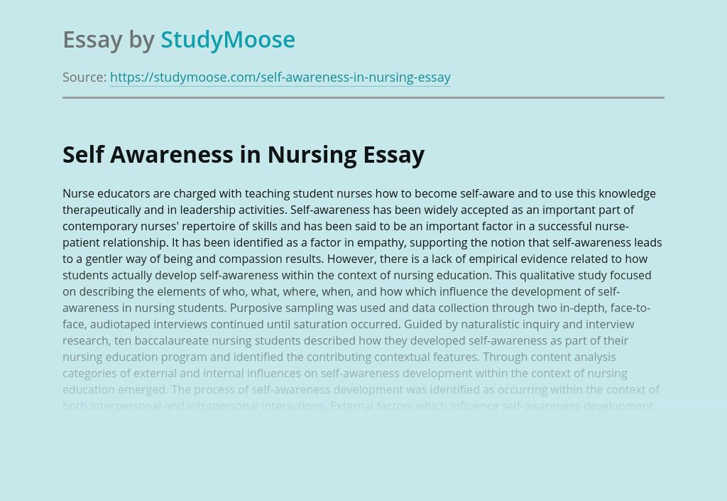 Self Awareness in Nursing