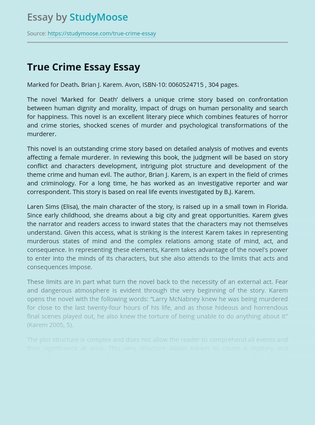 True Crime Essay