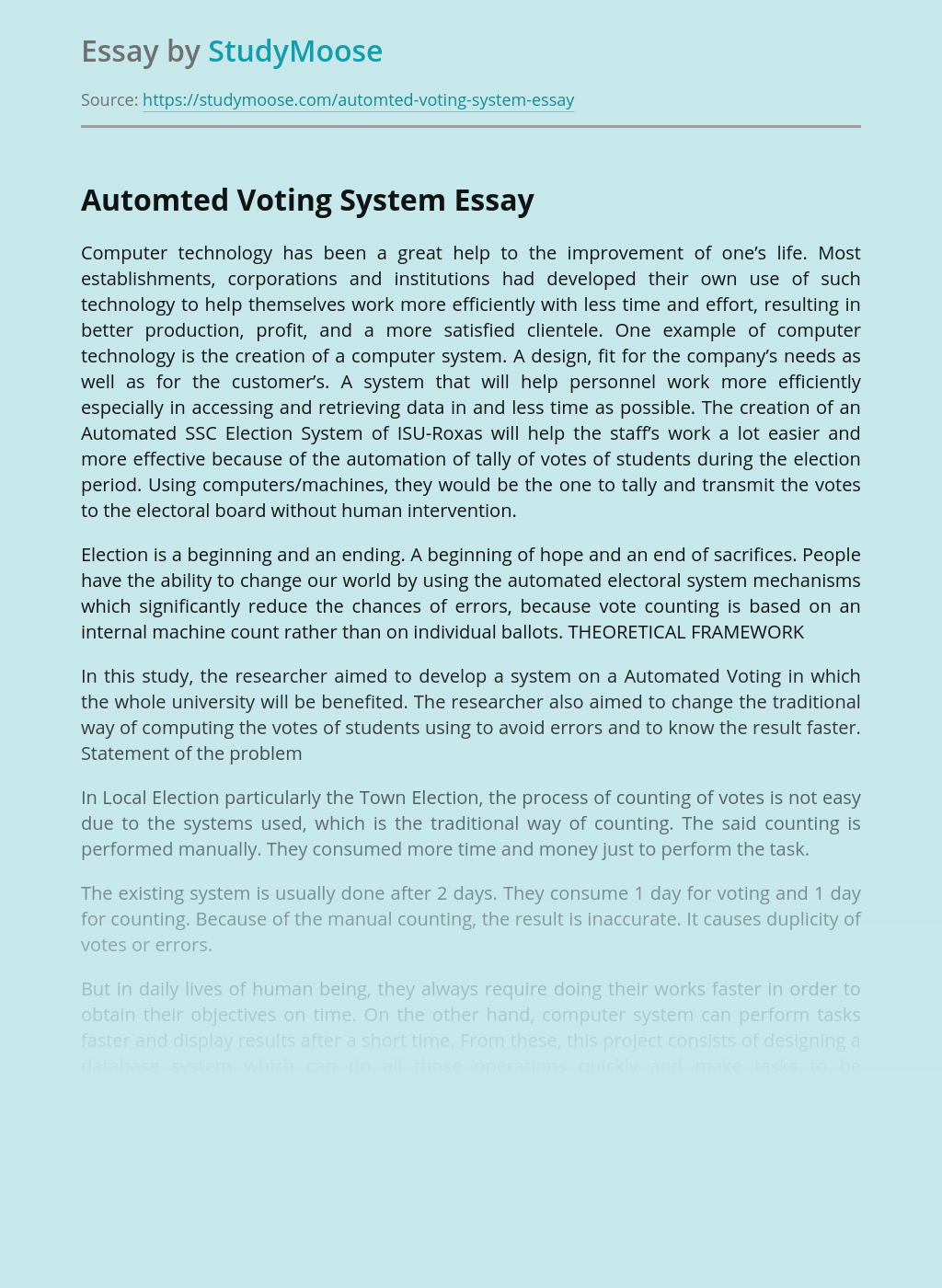 Automted Voting System