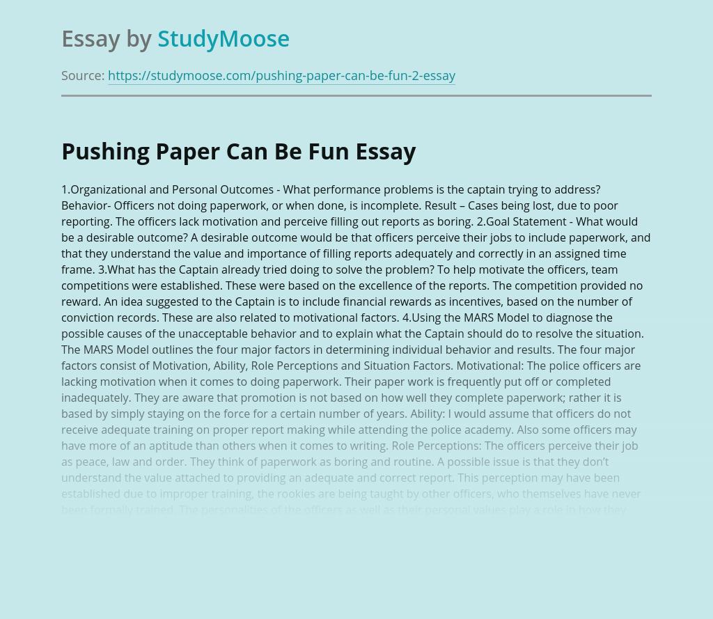 Pushing Paper Can Be Fun